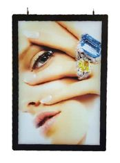 Double Sided Black Border 6063 Alu LGP Slim Led Light Box A3 Size